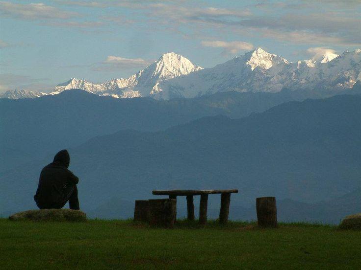 Beautiful view of mountain range during the trek in the Himalayas  http://mysticlandadventurepltd.blogspot.com