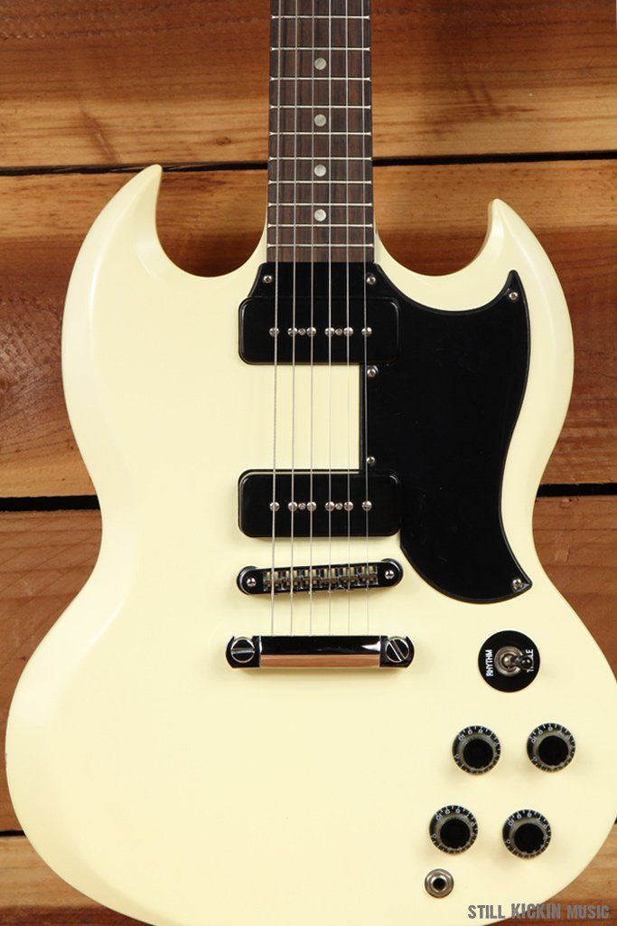 Gibson Sg Special 60s Tribute Worn White Satin Dual P90s Clean 5325 Gibson Sg Gibson Electric Guitar Design
