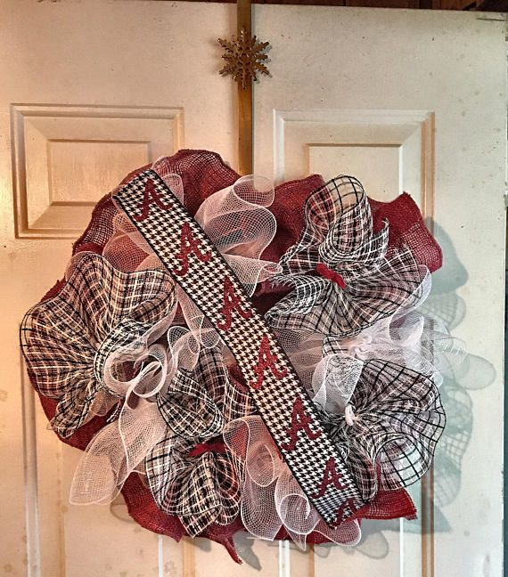 Alabama Football Wreath  Custom Designed Wreath