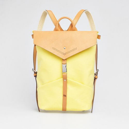 TheBétaVersion Ezra rucksack in pastel yellow with laser cut details