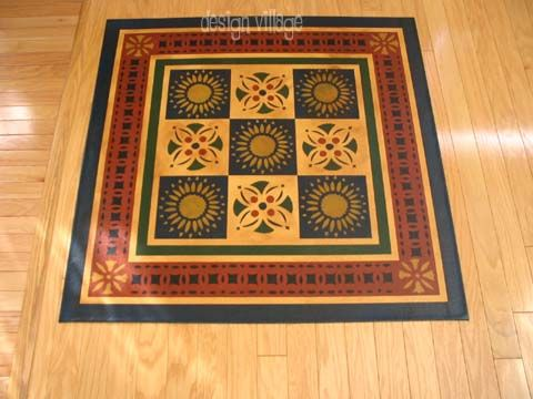 Early American Quilt Floorcloth Moses Eaton Collection