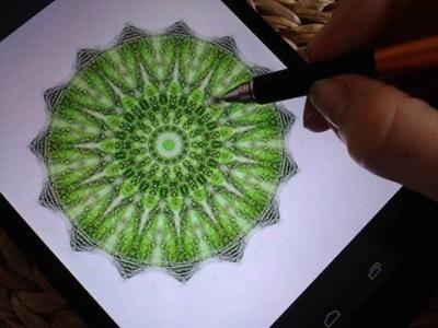 Jedním ze způsobů, jak mandaly tvořím, je styl pointilismus. Obrázek se skládá ze samých teček. Pro tentokrát jsem do ruky vzala stylus místo pastelek, fixů a barev. A výsledek? Tahle nádherná, vytečkovaná, energetická a léčivá mandala ♥