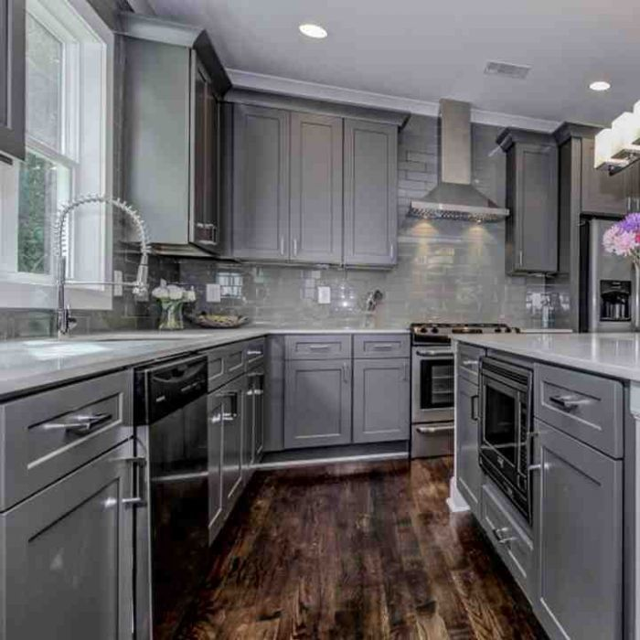 Grey Shaker 10x10 Kitchen Set Rta Kitchen Set Cabinet Kitchen