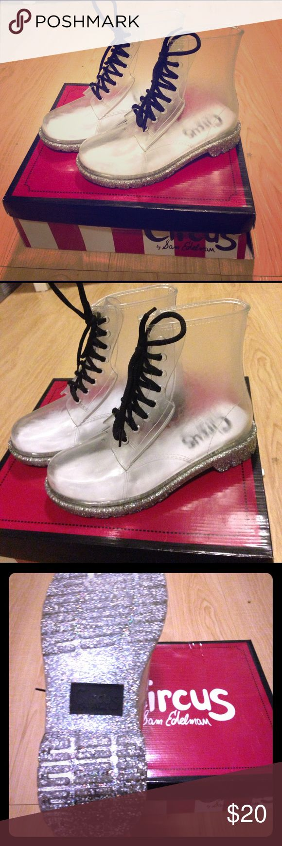 Shoes New never used clear rain boot / combat boot Circus by Sam Edelman Shoes Combat & Moto Boots