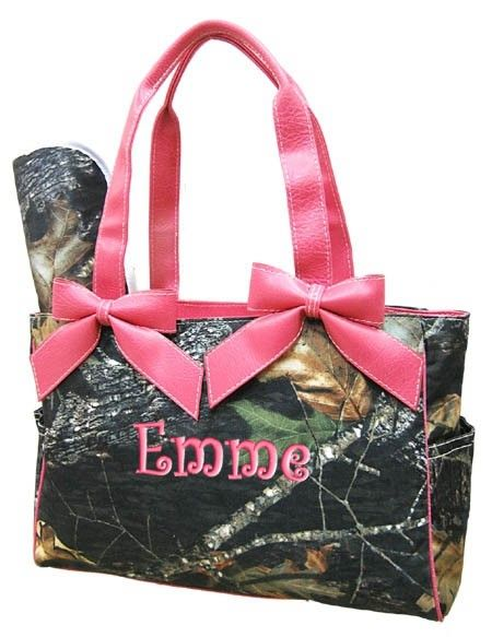 Personalized Diaper Bag Pink Camouflage Mossy Oak Camo