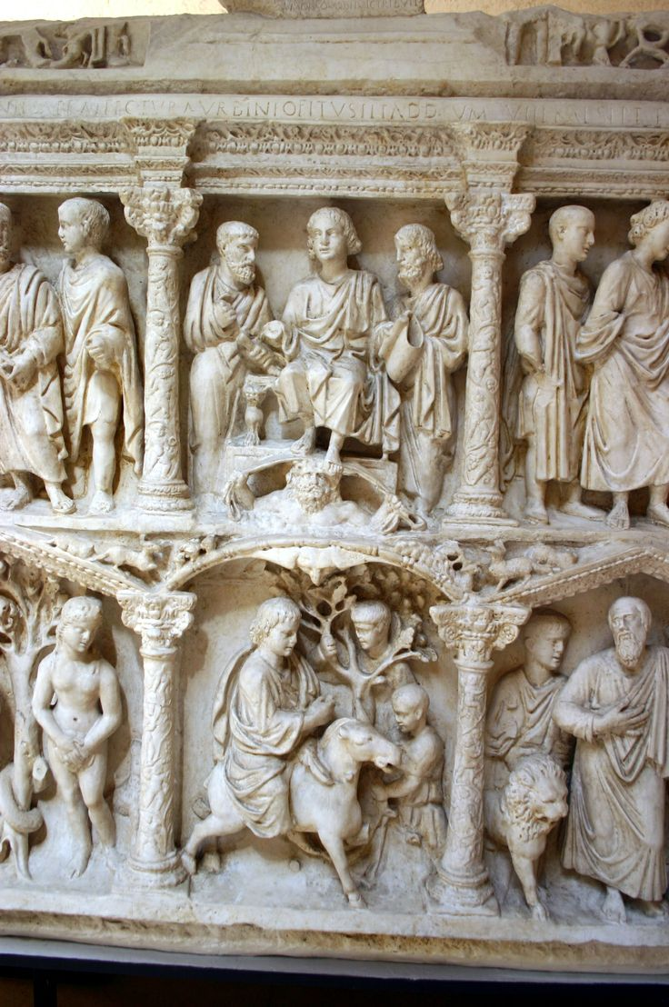 Detail - cast of the central sections of the Sarcophagus ...