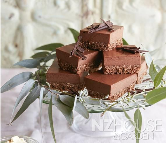 Chocolate Mint Marshmallow Slice