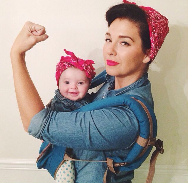 Cute costume for mom and daughter