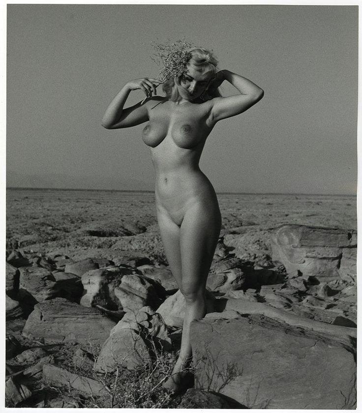 1950s Fine Art Large Format Andre De Dienes Erotic Nude Photograph Vintage Beach