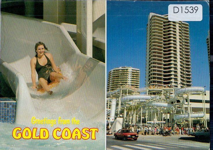 D1539cgt Australia Q Gold Coast Grundy's waterslide postcard | eBay