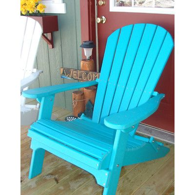 Buyers Choice Phat Tommy Folding Recycled Poly Adirondack Chair Finish: Island Teal