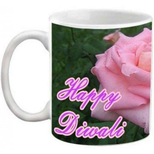 COFFEE MUG - HAPPY DIWALI FLOWER DESIGN