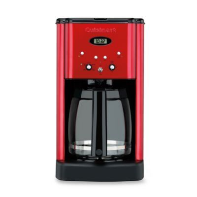 This is going to be my post-Christmas gift to myself. Love!!  Cuisinart® Brew Central™12-Cup Programmable Coffee Maker in Metallic Red - BedBathandBeyond.com
