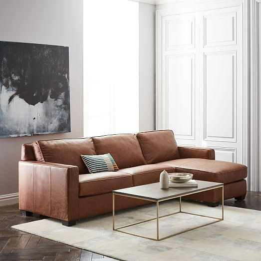 Henry 2-Piece Pull-Down Leather Full Sleeper Sectional + Storage : sleeper sectional with storage - Sectionals, Sofas & Couches