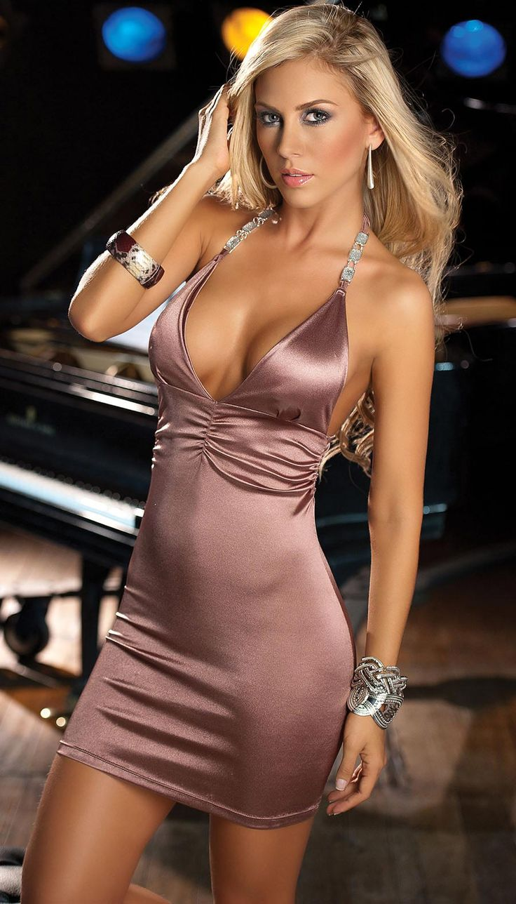 Alluring Sexy Pink Nude Dress  Thi Trang, Beautiful-8995