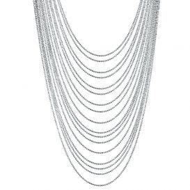 Multi layer (17 strands) Silver necklace from Irish company, Newbridge Silverware.