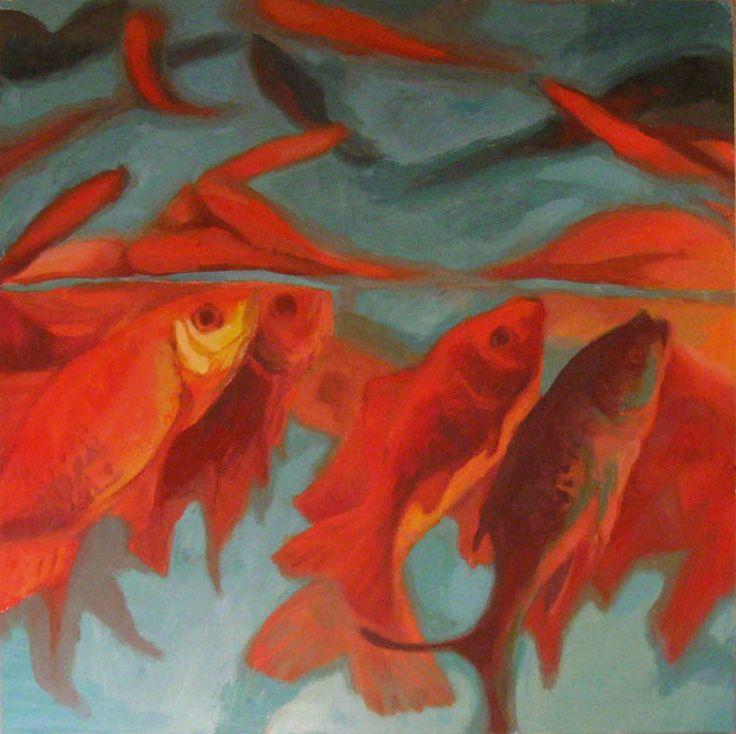 Goldfish - oil painting