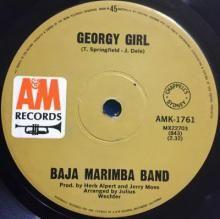 GEORGY GIRL / CABEZA ARRIBA (HEADS UP) | BAJA MARIMBA BAND | 7 inch single | $5.00 AUD | music4collectors.com