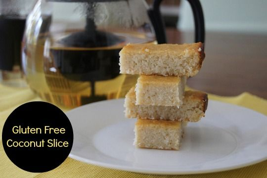 """Coconut Slice - easy to make, gluten free and suit those eating """"clean""""."""