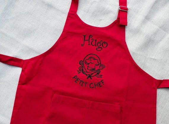 Kitchen Apron Little Chef Apron BakingCooking Attire Grill Apron Chef Apron Kids Apron Personalized Aprons Heat Transferred Vinyl