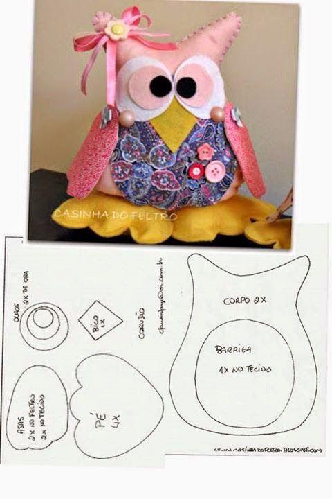 ARTE COM QUIANE - Paps,Moldes,E.V.A,Feltro,Costuras,Fofuchas 3D: 7 moldes que você precisa ter
