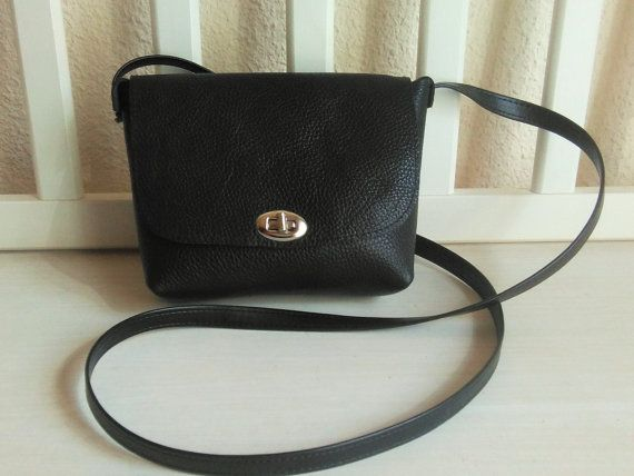 Small Leather Crossbody Bag Black - Crossbody Purse Genuine Leather Black - Small Satchel Bag