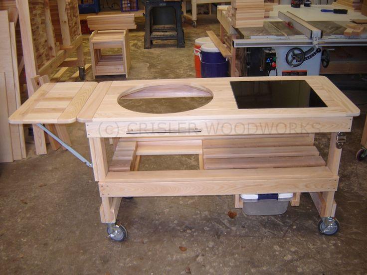 BigGreenEggTables.com  Home Of    Crisler Woodworks    Builders Of Custom Cypress Tables For Big Green Egg® Grills
