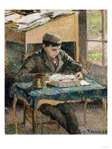 Portrait of Rodo Reading Eugene Boudin 1903