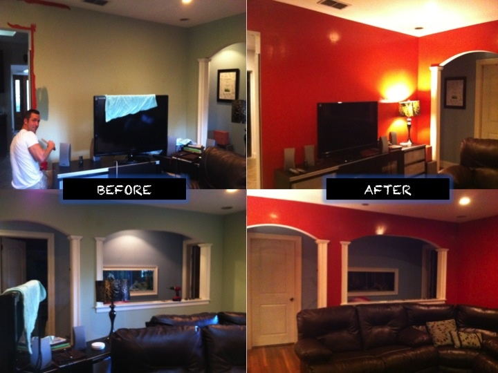 Living room red paint for the home pinterest