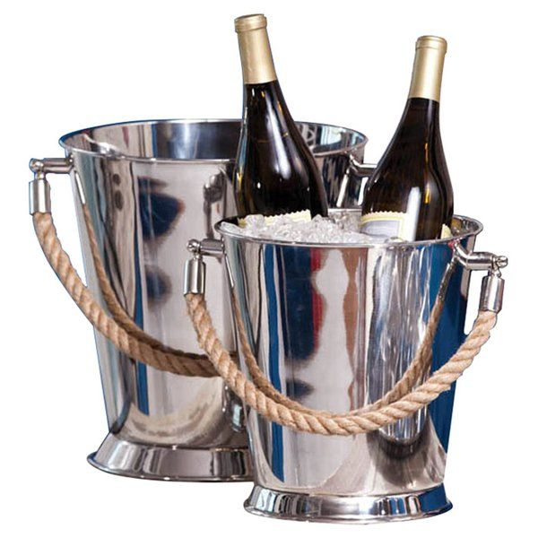 You'll love the 2 Piece Stainless Steel Buckets Set with Rope Handles at Wayfair - Great Deals on all Kitchen & Tabletop products with Free Shipping on most stuff, even the big stuff.