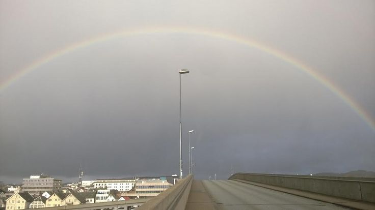 I like rainbows, like this one that appeared as I crossed the bridge one morning. These colours make me hope that there will be a future with less troubles. That's the fairy tale version at least, but I have hopes.