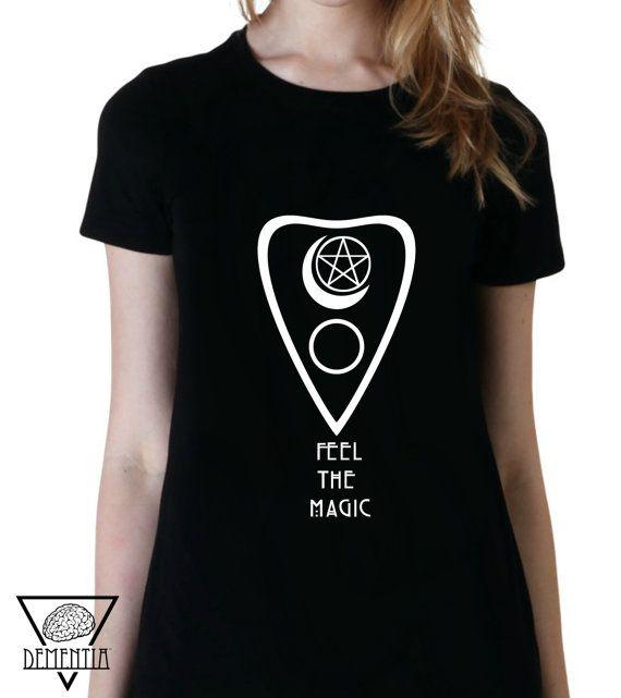 Ouija Tshirts - Women Man Magic Witchcraft Halloween Pagan Druidry Occult Divination Witch Craft Spirits Necromancy