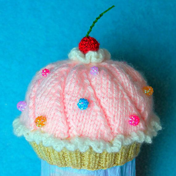 Knitting Pattern Baby Cupcake Hat Instant Download