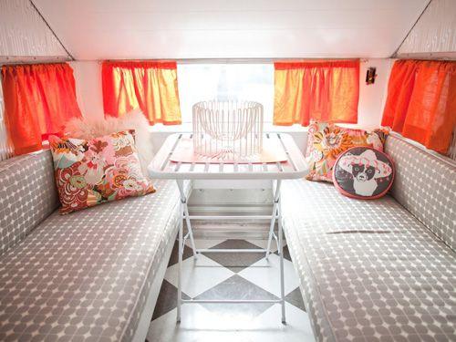 1960 Aristocrat LoLiner. Camper Interior Decorating Ideas - Unique RV Decorating Ideas - Country Living