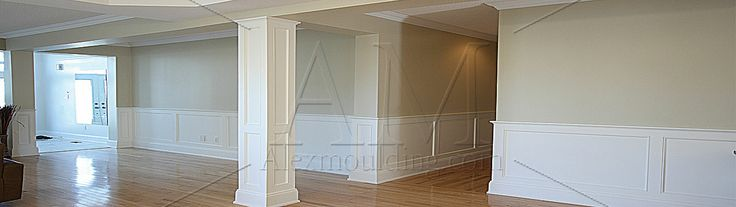Different sorts of wainscot designs are available nowadays such as wall paneling, moldings, baseboard molding and chair rail or wainscot cap etc!