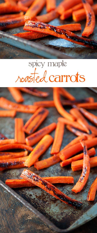 Spicy Maple Glazed Carrots recipe