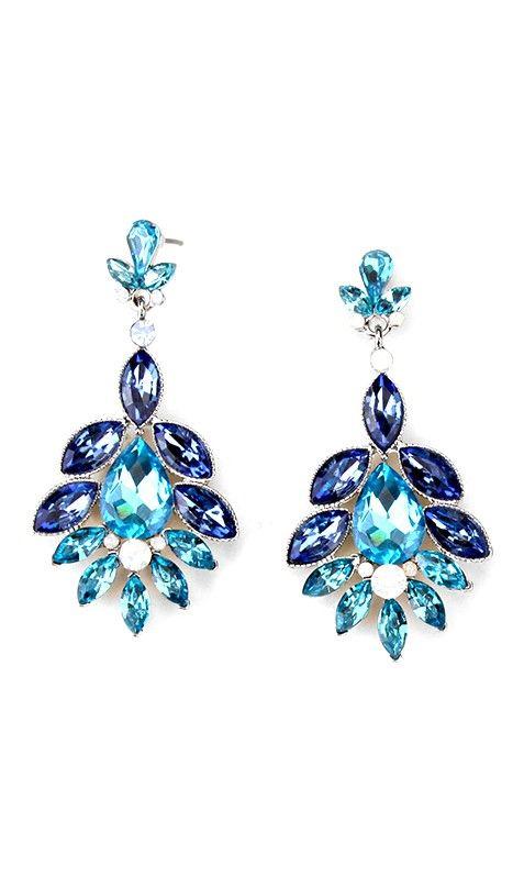 Crystal Madeline Earrings in Sapphire