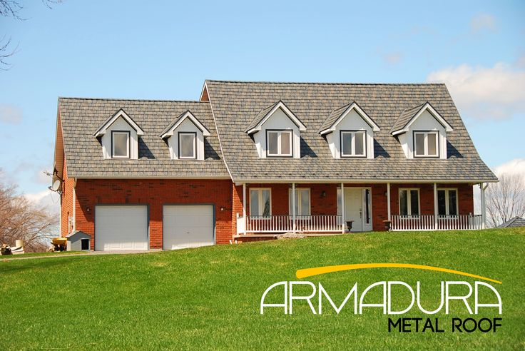 Armadura Metal Roof is the Perfect Compliment to this Quaint Country Home.  Don't forget to like and pin! #RVP #highstrengthsteel #permanentroof #armadura