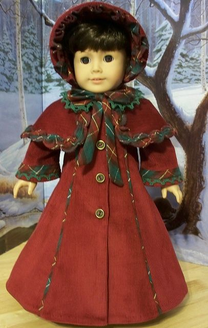 Victorian Christmas Caroler- Made for American Girl doll Samantha by Keepersdollyduds, via Flickr