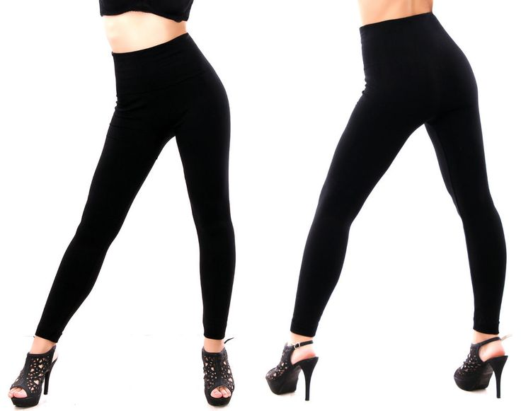 Damen Thermo Leggings Thermoleggings Fleece Futter mit extra hohem Taillenbund