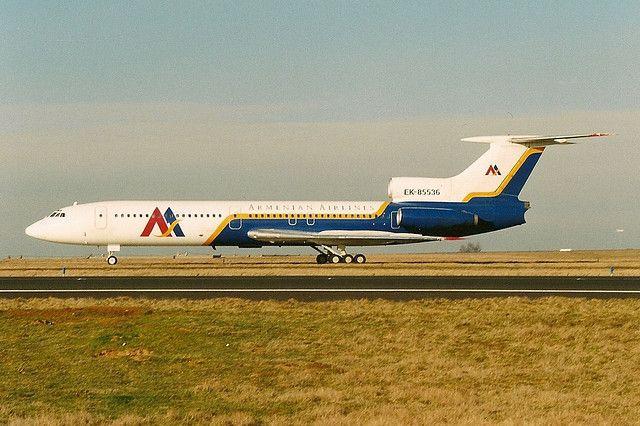 Armenian Airlines | Armenian Airlines Tu154 EK-85536