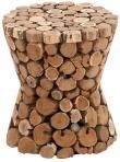 Parana Teak Stool - Teak Stool - Garden Stools - Short Stool | HomeDecorators.com 15d x 17h   /craft???  diy