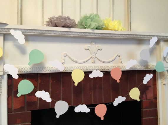 385 best baby shower ideas images on pinterest baby for Balloon banner decoration