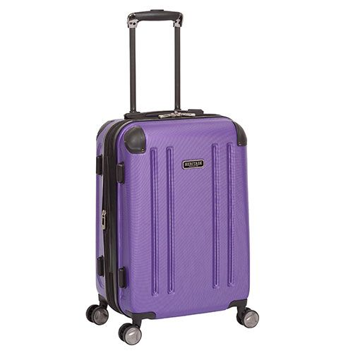 The Heritage OHare 20 inch expandable 8 wheel spinner carry-on is built with lightweight construction and has a durable ABS exterior with molded corner reinforcement for maximum impact resistance. This carry-on has 8-wheel spinners that allow for smooth 360 degree rotation. The main compartment features an expansion zipper for greater carrying capacity, garment restraints, and zipper pockets for smaller items. Other features of the carry-on include a durable top grab handle, molded feet that…