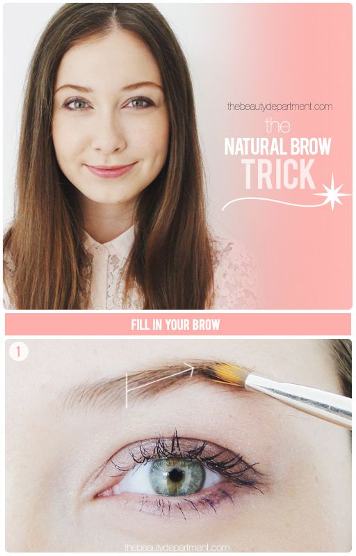 This little brow trick is genius! Full tutorial just went up on thebeautydepartment.com! (Or click twice on this picture!)