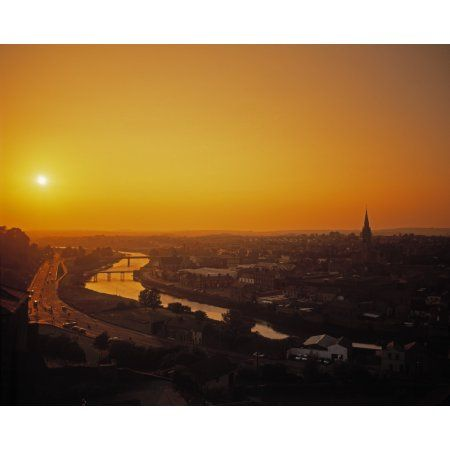 River Boyne Drogheda Co Louth Ireland Canvas Art - The Irish Image Collection Design Pics (15 x 12)