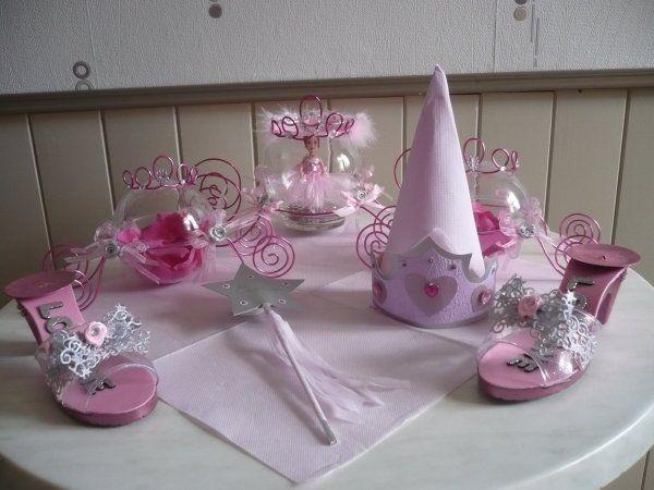 Decoration De Table Pour Un Bapteme Sur Le Theme Feerique