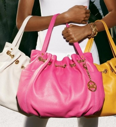 Michael Khors. A pop of color for spring! Anyone who knows bags knows the quality of these, they are awesome!