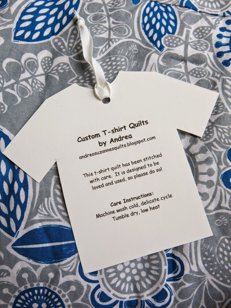 Care Instructions For T Shirt Quilts By Andrea Quilts