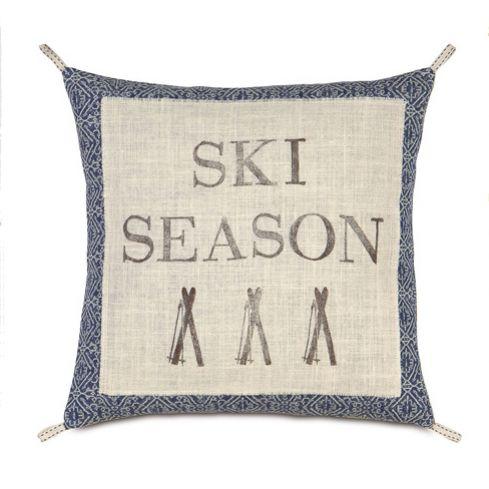 Ski Season Pillow: Best Part of Winter!